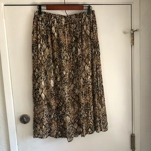 Alfred Dunner Reptile Print Flowing Maxi Skirt 14